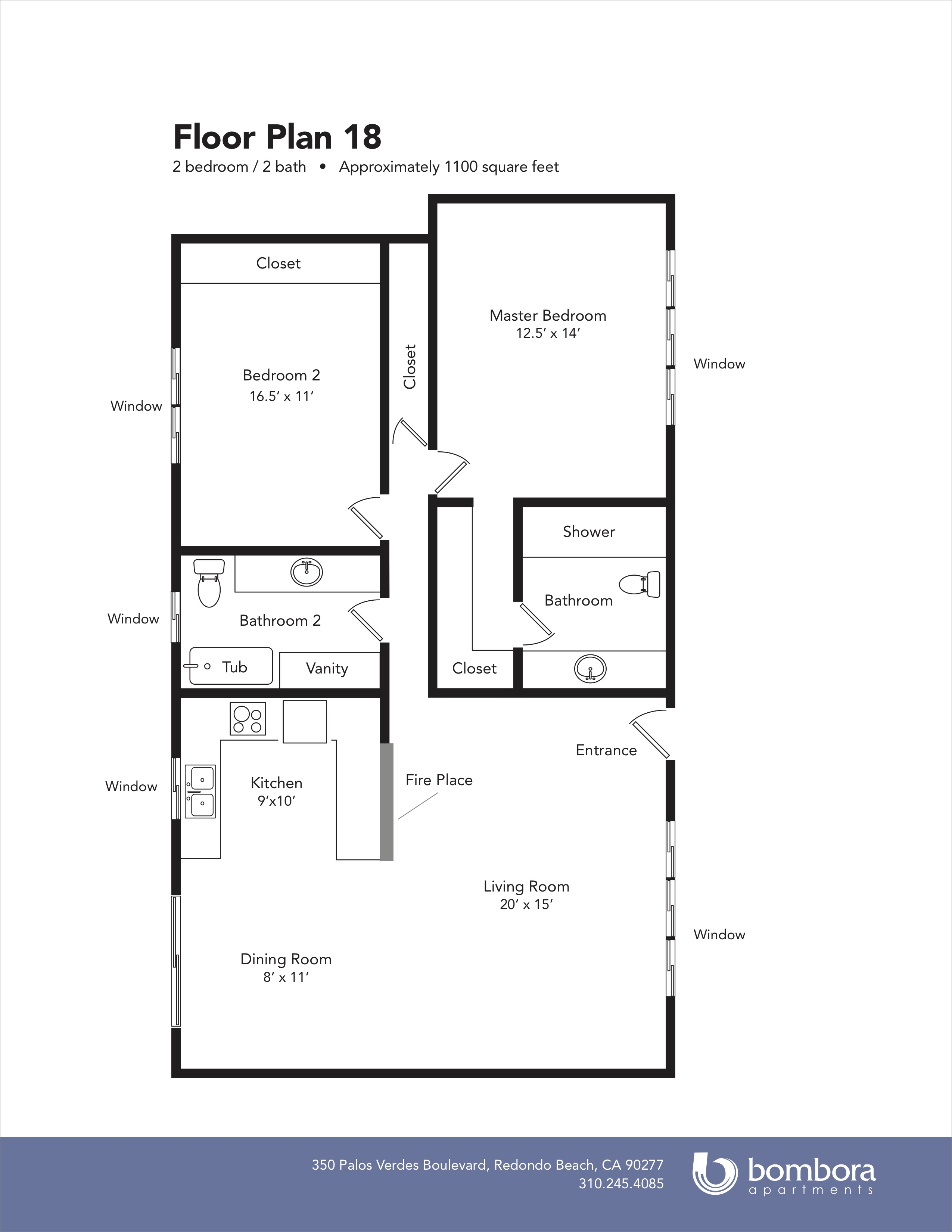 . Floor Plan 18   Bombora Apartments